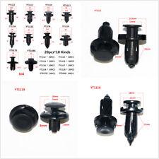 200X Black Mixed Car Bumper Clip Retainer Rivet Door Panel Fender Liner Fastener