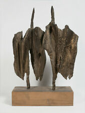 bronze1950s sculpture kunst art object mid century fontana giacometti informel