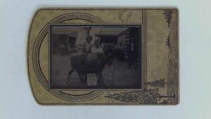 1933 Chicago World's Fair Morocco Village Boy & Baby Camel Tintype Photograph