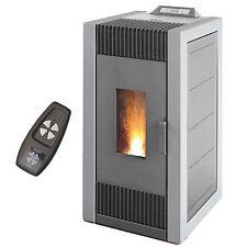 14 kW Pelletofen von BLAZE ES 16C grau +Luftkanalanschluß Beheizen anderer Räume
