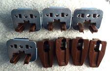 4 New Kenlin Rite-Trak Dresser Drawer Guide Glide w/ Metal Bracket & Stop