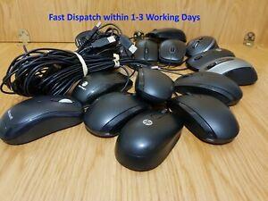 Lot of 15 Mouse, Mixed makes starting from HP, Microsoft, Fujitsu, Logitech