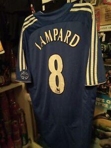 2 LOT RARE men Chelsea shorts jersey adidas soccer football Lampard #8 2006
