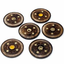 Choice of Wooden Disc Incense Burner Holder -  10cm - cones - sticks