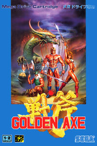 RGC Huge Poster - Golden Axe Sega Genesis Mega Drive BOX ART - OTH378