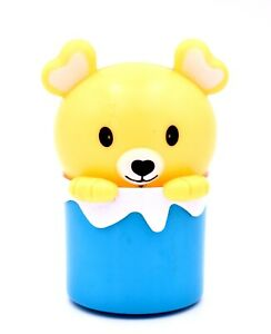 """Teacup Puppy Night Light,Yellow Puppy in a Blue Cup,Plastic,3.5"""" x 2""""d"""
