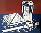 Roy Lichtenstein, Sandwich and soda 1964, Hand Signed Lithograph A.P.