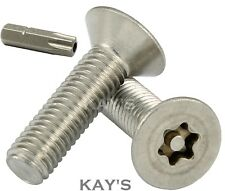 6 @ M3 X 20 STAINLESS STEEL A2 TORX TX PIN BUTTON HEAD SECURITY SCREW TX10 T10