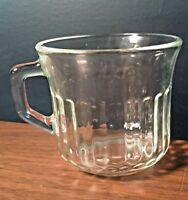 Vintage Fortecrista Mexico Small Clear Glass Cup Coffee Handle Mug 1970s
