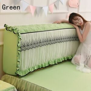 Elastic Bed Headboard Slipcover Lace Ruffle Dustproof Protector Bedding Home New