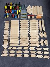 Brio Thomas Wooden Toy Trains Lot of 112 Pc Train Cars Tracks