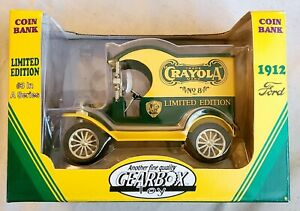 1998 Crayola 1912 Ford Limited Edition Coin Bank Collectors Series Die Cast 1:24