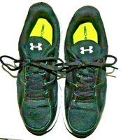 Under Armour Mens Black/White Trim Athletic Sneakers 1252361-001 Shoe Size 10