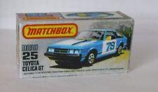 Repro Box Matchbox Superfast Nr.25 Toyota Celica GT