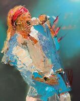 Abstract Portrait Axl Rose Guns N Roses Music Portrait Art Original Painting