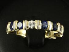 Saphir Brillant Memory Ring ca. 2,68ct mit großer Ringweite 63  750/- Gelbgold