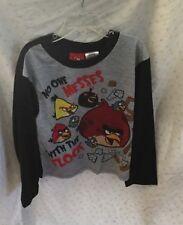 Angry Birds Boy's 2 pc Pajama set Red/Black size S 7/8 NWT
