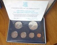 COFANETTO SERIE UFFICIALE COMPLETA 6 MONETE 1974 BRITISH VIRGIN ISLANDS PROOF