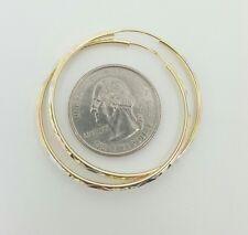 14k tri color gold big 40MM hoop earrings multi-tone gold