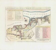 More details for 1755 engraved plan map parish mary magdalen bermondsey by stow (st91)