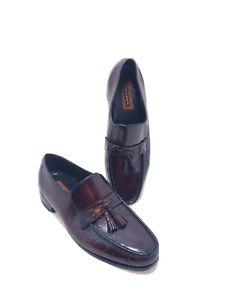 Florsheim Men's 10.5D 33461 Leather Burgundy Tassel Loafer Slip On  Dress Shoes