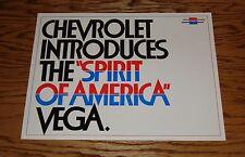 Original 1974 Chevrolet Vega Spirit of America Sales Brochure 74 Chevy