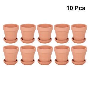 10x Terracotta Flower Pot Clay Pottery for Succulent Plants Rose Cactus 6.8-10cm