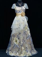 Cherlone Ivory Long Ballgown Wedding Evening Bridesmaid Formal Dress UK 12