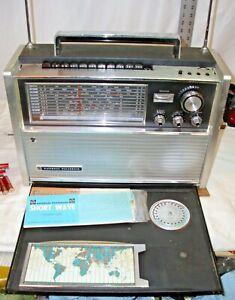 NATIONAL PANASONIC RF-5000A 11 BAND TRANSISTOR WORLD RADIO WORKS