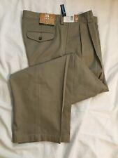 NWT Men's Oak Creek Pants - Classic Fit - Pleated Front/No Cuff - Khaki 33 x 30