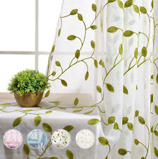Cotton blend embroidered curtains drapes valances ebay fresh vine embroidery sheer curtain balcony fabric tulle voile gauze textile 1pc ccuart Gallery