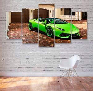 Lamborghini Huracan 5 Panel Canvas, Wall Art, Picture, Framed Canvas Print #155