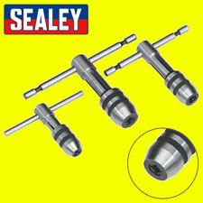 Sealey AK9799 T-Handle Tap Wrench Set 3pc - Silver