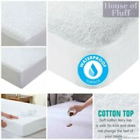 New Terry Waterproof Towel Mattress Protector Fitted Sheet Bed Cover All Sizes
