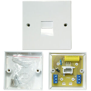 BT Master Single Telephone Socket-Screw Terminals-PSTN Line Wall Face Plate 2/4A