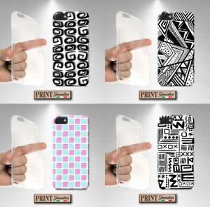 Cover For , Huawei, Silicone, Soft, Mosaic, Elegant, White Black, Chic, Fashion,
