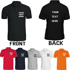 Personalised Mens Printed Polo Shirts Work Stag Do Party Top Tee Custom Workwear
