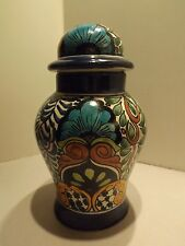 Vtg Mexican/Mexico Pottery Talavera Handpainted 12''H Ginger Jar Lamp Base