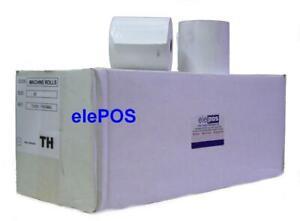 80x75 Printer Rolls, 80 x 75, 80mm x 75mm Epos Printer Rolls, Thermal- 20 Rolls