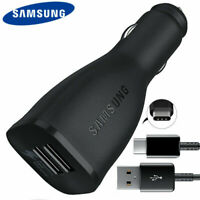 Original Samsung Fast Car Charger USB Type C Cable For Galaxy S10 S9 S8+ A5 A7