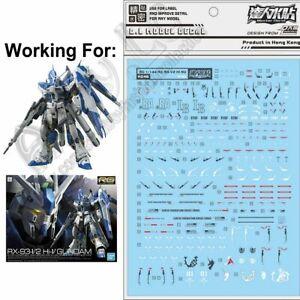 for RG 1/144 Hi-Nu Gundam v D.L Model pre-cut Waterslide Decal Stickers RX-93-υ2
