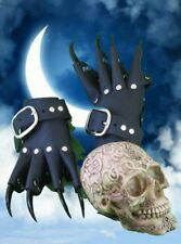 Black Leather Black Claw Gauntlets Gothic Gloves (R/H Only)