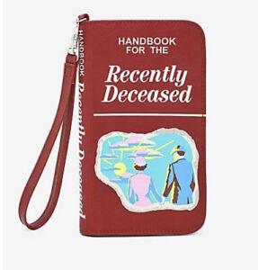 BEETLEJUICE HANDBOOK FOR THE RECENTLY DECEASED WRISTLET WALLET NWT