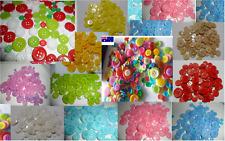 Buttons bulk 100~2000 Mix Craft sewing multi single colour 9~23 school Christmas