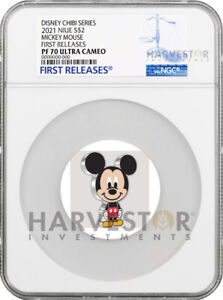2021 CHIBI COIN - DISNEY SERIES: MICKEY MOUSE- NGC PF70 FIRST RELEASES