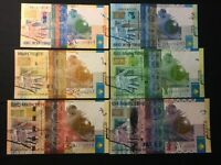 KAZAKHSTAN SET 6 NOTES 200 - 10000 TENGE 2006 UNC