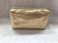 Bare Escentuals Bareminerals Gold Zip Cosmetic MakeUp Bag New
