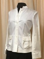NWT $378 Lafayette 148 New York- White Cotton Jacket- Sz 8