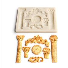 European Roman Columns Silicone Mold Fondant Cake Sugar Topper Chocolate DIY