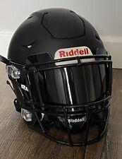 DISPLAY ONLY  - BLACK Football Helmet Visor Shield Full size helmet Universal